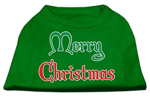 Merry Christmas Screen Print Shirt Emerald Green Sm (10)