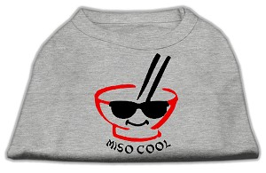 Miso Cool Screen Print Shirts Grey XS (8)