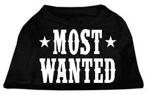 Most Wanted Screen Print Shirt Black Med (12)