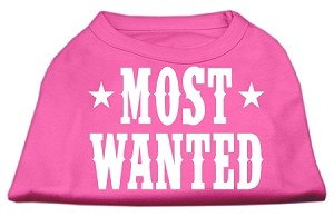 Most Wanted Screen Print Shirt Bright Pink XL (16)