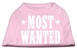 Most Wanted Screen Print Shirt Light Pink Sm (10)