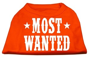 Most Wanted Screen Print Shirt Orange Lg (14)