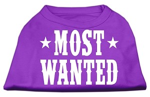 Most Wanted Screen Print Shirt Purple Med (12)