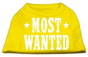 Most Wanted Screen Print Shirt Yellow XS (8)