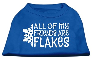All my Friends are Flakes Screen Print Shirt Blue XS (8)