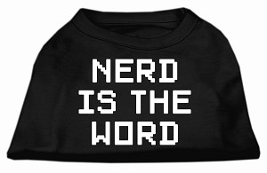 Nerd is the Word Screen Print Shirt Black XXL (18)