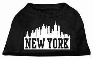 New York Skyline Screen Print Shirt Black XXL (18)