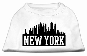 New York Skyline Screen Print Shirt White XS (8)