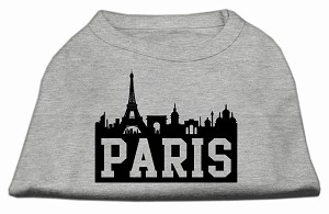 Paris Skyline Screen Print Shirt Grey Med (12)