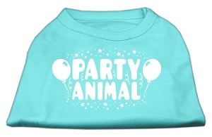 Party Animal Screen Print Shirt Aqua Sm (10)