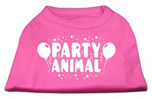 Party Animal Screen Print Shirt Bright Pink XXXL (20)