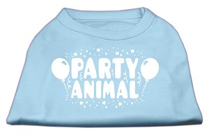 Party Animal Screen Print Shirt Baby Blue Lg (14)