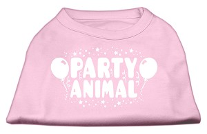 Party Animal Screen Print Shirt Light Pink Med (12)