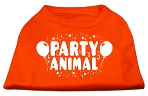 Party Animal Screen Print Shirt Orange Med (12)