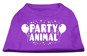 Party Animal Screen Print Shirt Purple XXL (18)