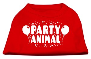 Party Animal Screen Print Shirt Red XXL (18)