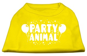 Party Animal Screen Print Shirt Yellow XS (8)