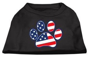 Patriotic Paw Screen Print Shirts Black XXL (18)