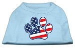 Patriotic Paw Screen Print Shirts Baby Blue S (10)