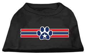 Patriotic Star Paw Screen Print Shirts Black XXL (18)