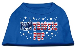 Pawtriotic Pup Screen Print Shirts Blue XXXL (20)