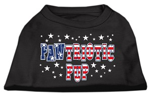 Pawtriotic Pup Screen Print Shirts Black M (12)