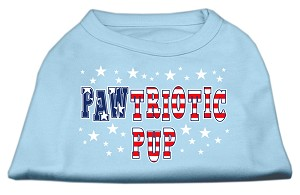 Pawtriotic Pup Screen Print Shirts Baby Blue L (14)