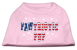 Pawtriotic Pup Screen Print Shirts Light Pink S (10)