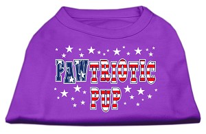 Pawtriotic Pup Screen Print Shirts Purple XS (8)