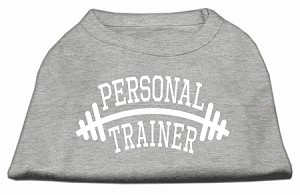 Personal Trainer Screen Print Shirt Grey Lg (14)