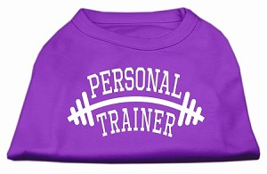 Personal Trainer Screen Print Shirt Purple XL (16)