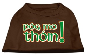 Pog Mo Thoin Screen Print Shirt Brown XS (8)