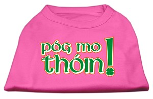 Pog Mo Thoin Screen Print Shirt Bright Pink XXXL (20)