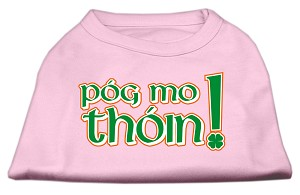 Pog Mo Thoin Screen Print Shirt Light Pink XXL (18)