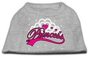 I'm a Princess Screen Print Shirts Grey Med (12)