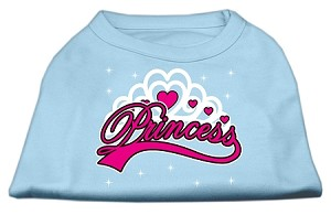 I'm a Princess Screen Print Shirts Baby Blue XXL (18)