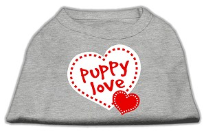 Puppy Love Screen Print Shirt Grey XXXL (20)