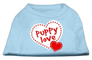 Puppy Love Screen Print Shirt Baby Blue XL (16)
