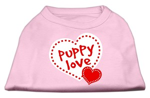 Puppy Love Screen Print Shirt Light Pink XXXL (20)