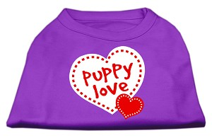 Puppy Love Screen Print Shirt Purple XS (8)