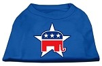 Republican Screen Print Shirts Blue XS (8)