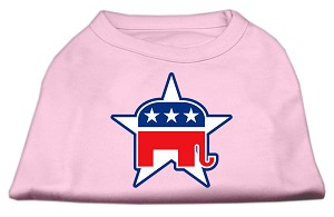 Republican Screen Print Shirts Light Pink XXL (18)