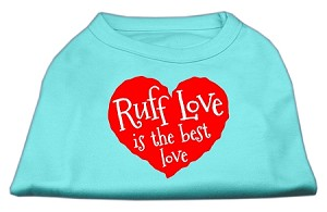 Ruff Love Screen Print Shirt Aqua Sm (10)