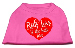 Ruff Love Screen Print Shirt Bright Pink XL (16)