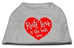 Ruff Love Screen Print Shirt Grey XS (8)