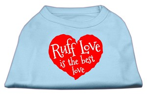 Ruff Love Screen Print Shirt Baby Blue Lg (14)