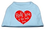 Ruff Love Screen Print Shirt Baby Blue XS (8)