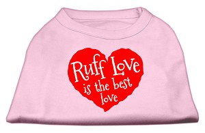 Ruff Love Screen Print Shirt Light Pink XXXL (20)