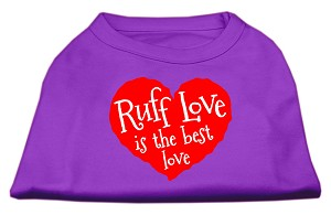 Ruff Love Screen Print Shirt Purple Lg (14)