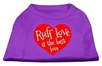 Ruff Love Screen Print Shirt Purple XS (8)